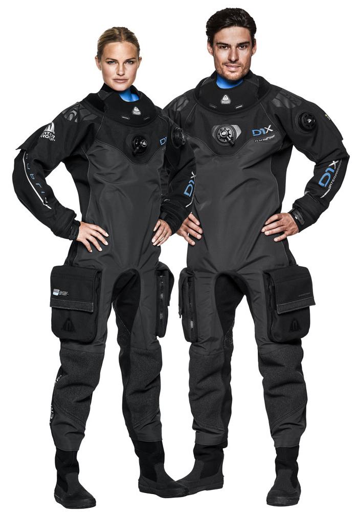 Сухой гидрокостюм для дайвинга Waterproof D1X Hybrid Men в Michel Watersport